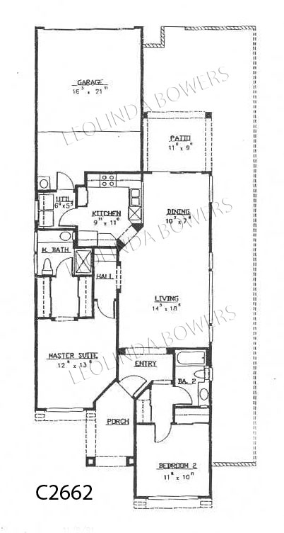 Sun City West Mesa Model Floor Plan