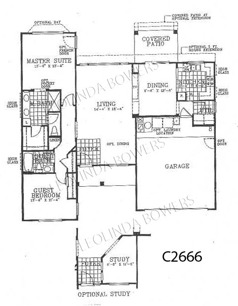 Sun City West Alpine (93) Model Floor Plan