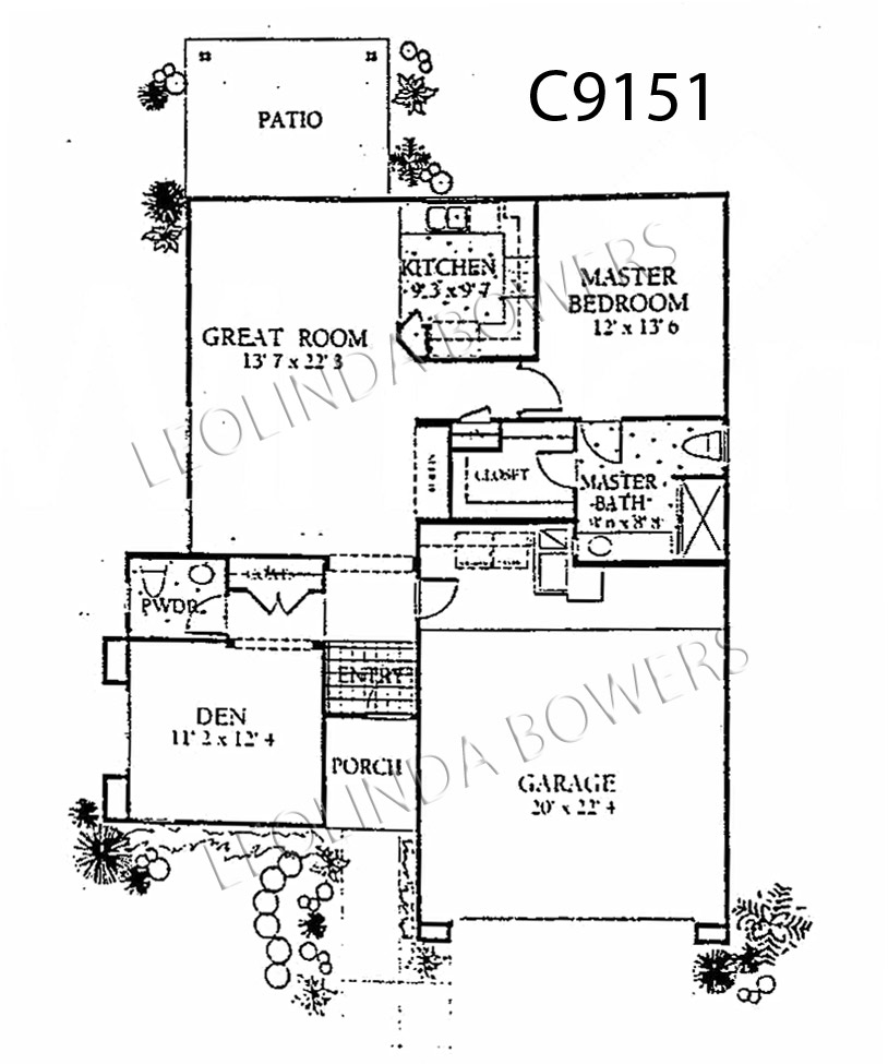Sun City Grand Monterra model floor plan