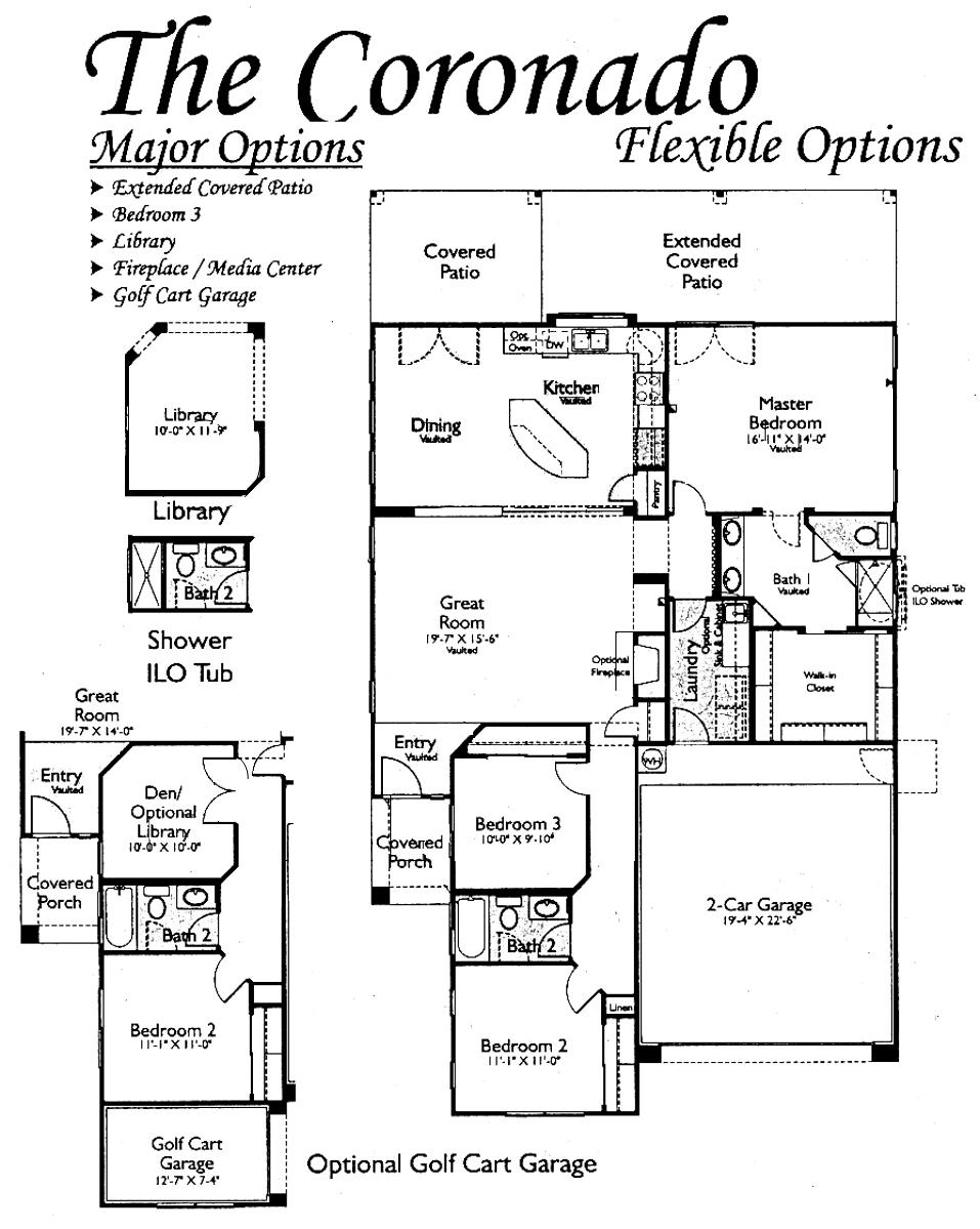 Floor plans for the coronado models inside arizona for Arizona floor plans