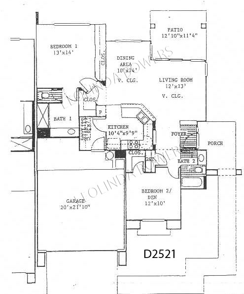Sun City West Frisco Model Duplex Floor Plan