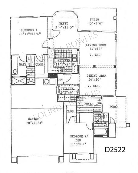 Sun City West San Luis Model Duplex Floor Plan