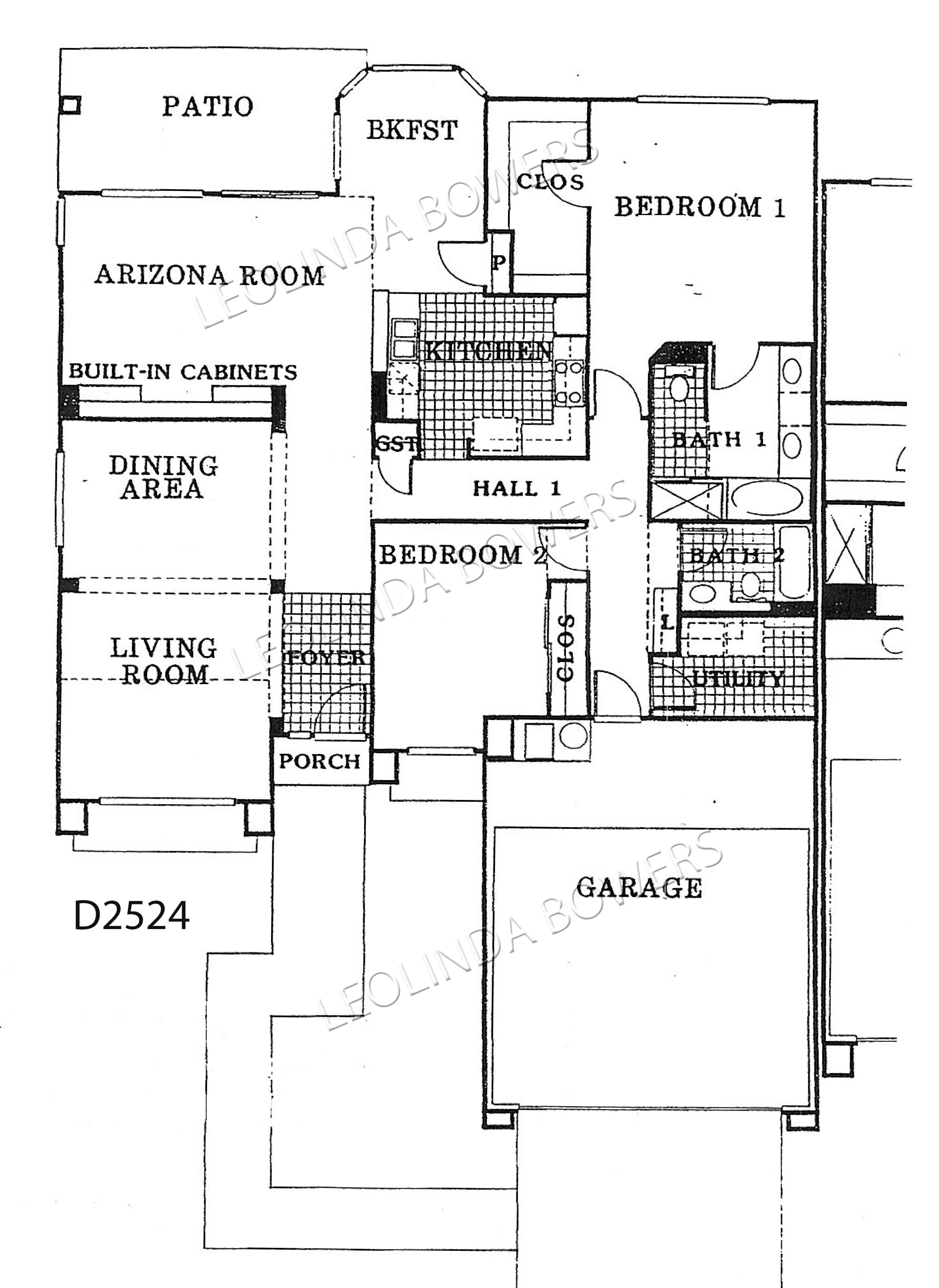 Sun City West Granada 89 model floor plan