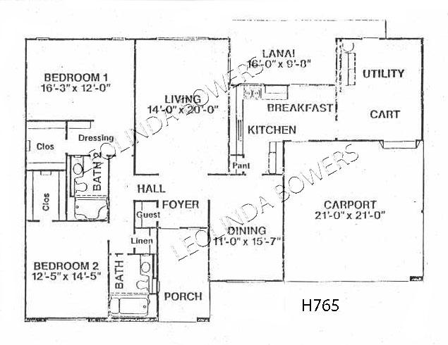 Sun City West Wilmington Floor Plan