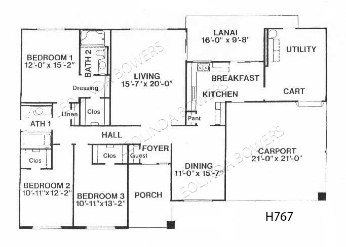 Sun City West Chickasaw Model Floor Plan