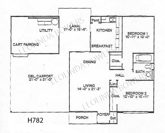 Sun City West Americana Model Floor Plan