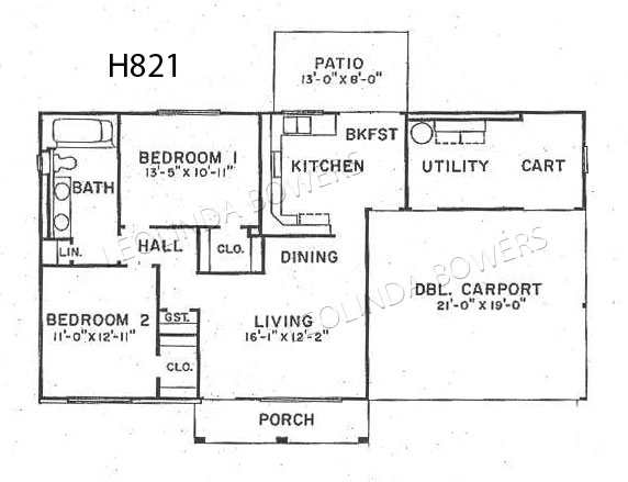 Sun City West Aragon Model Floor Plan