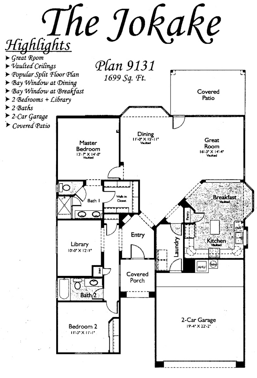 Jokake Floorplans in Arizona Traditions