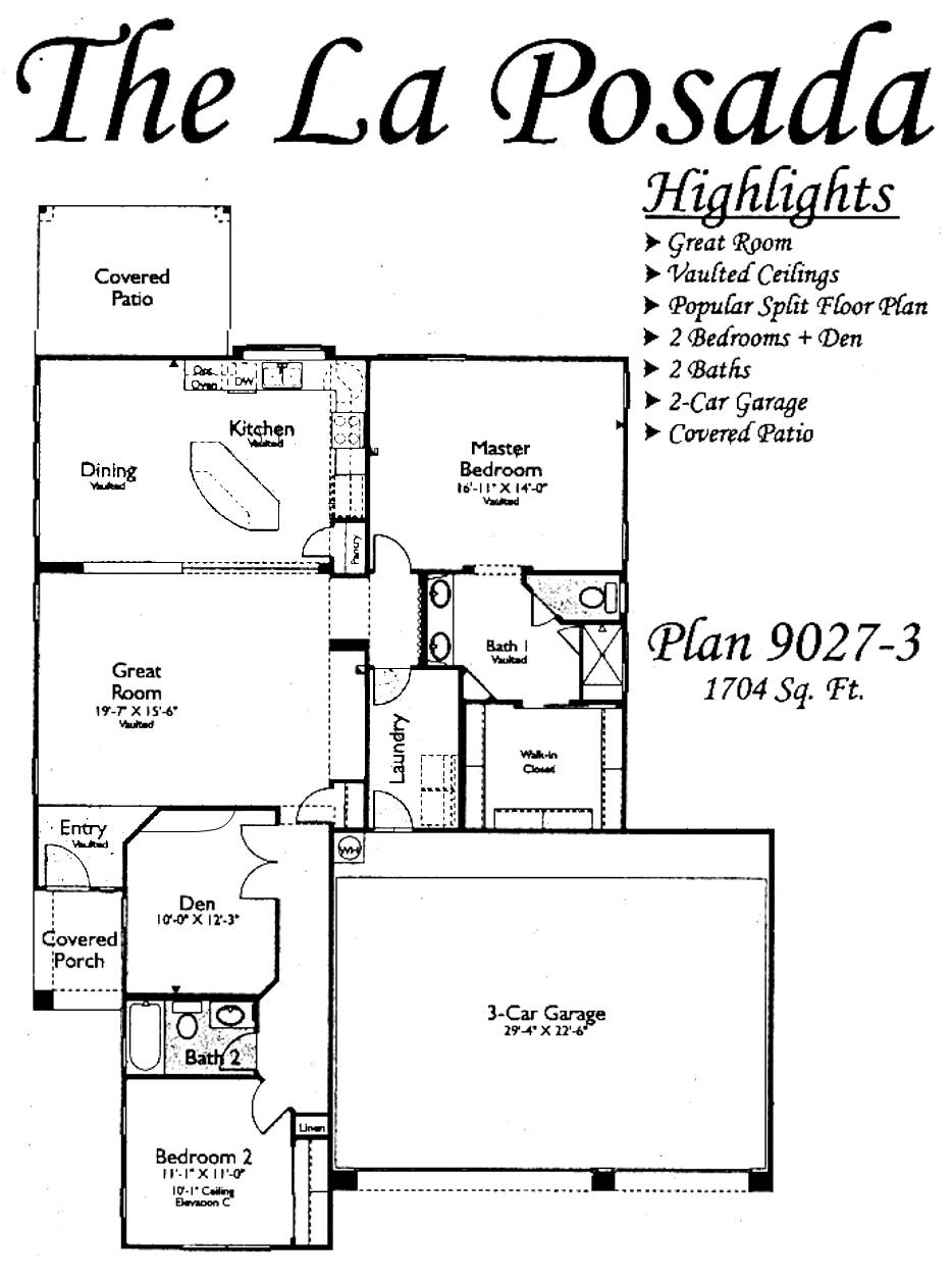 La Posada Floorplans In Arizona Traditions