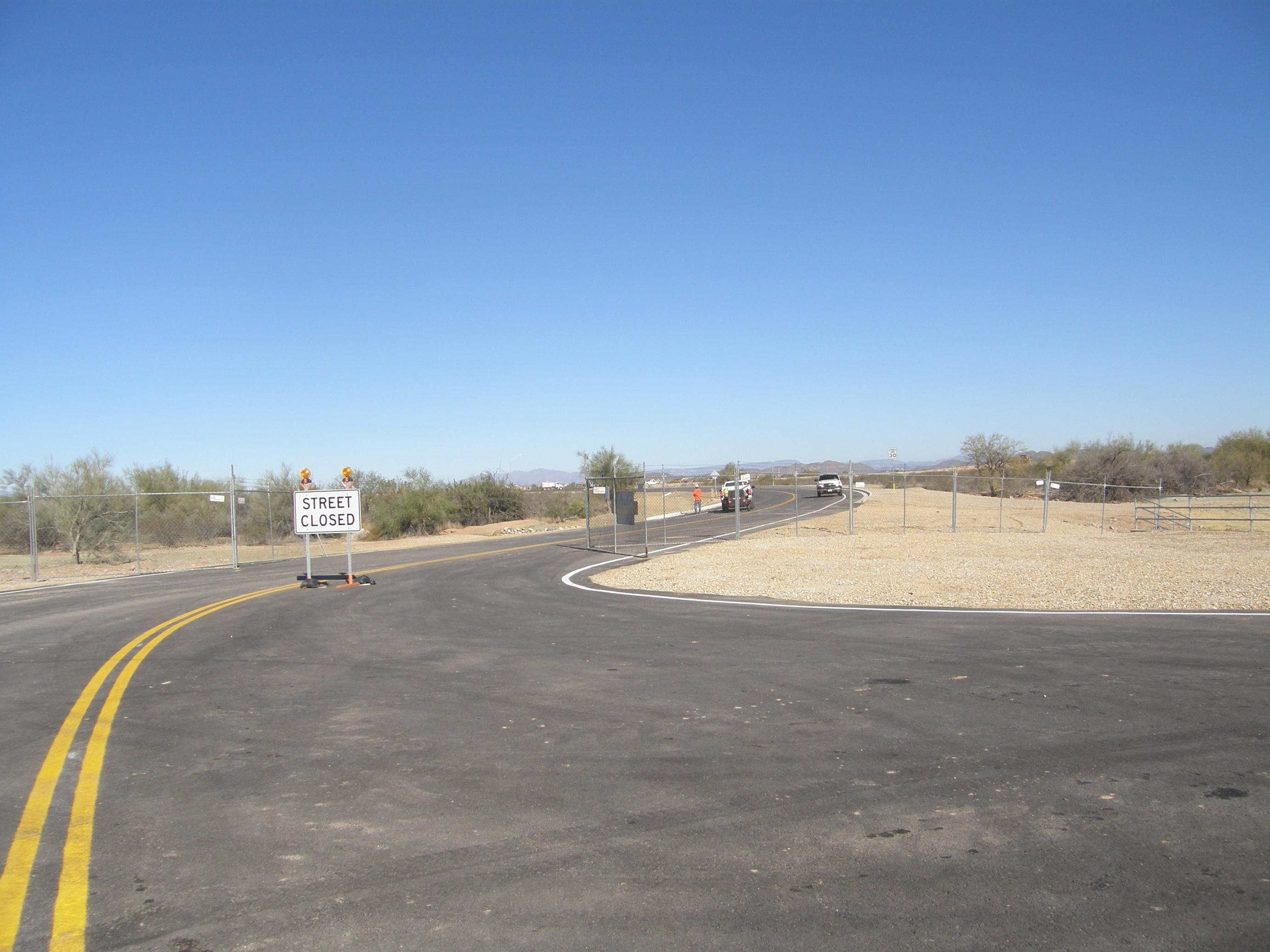 Had a chance to drive by the new road today the construction crews