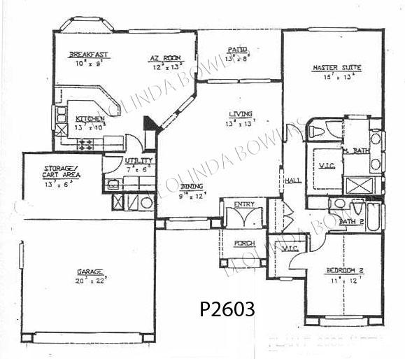 Sun City West Safford Floor Plan