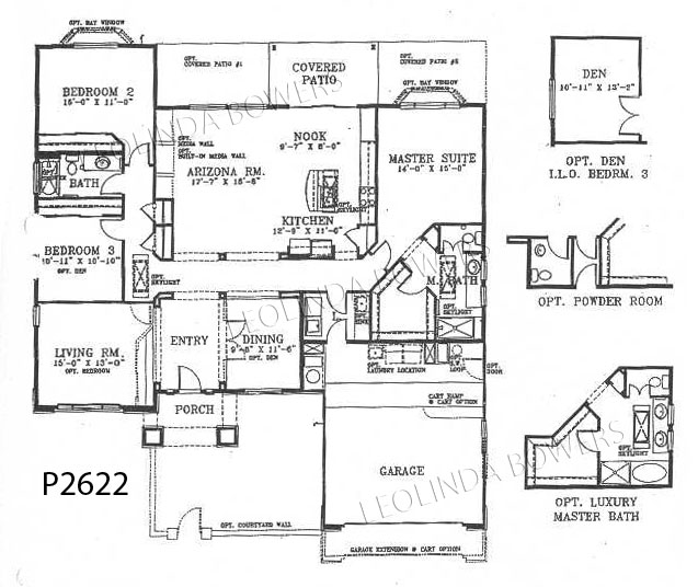 Sun City West Phoenix Model Floor Plan