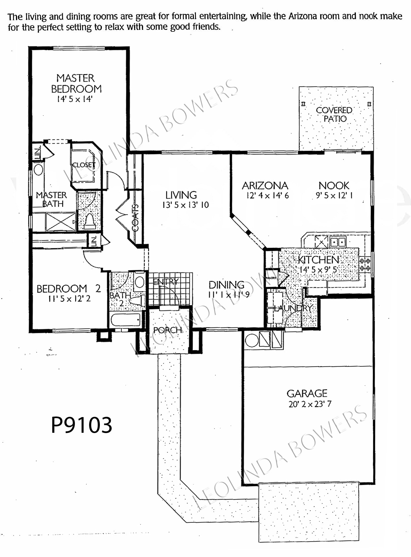 Sun City Grand Manzanita model floor plan