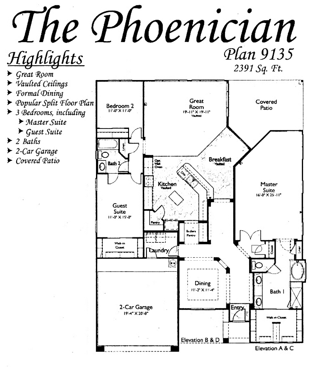 Phoenician Floorplans in Arizona Traditions