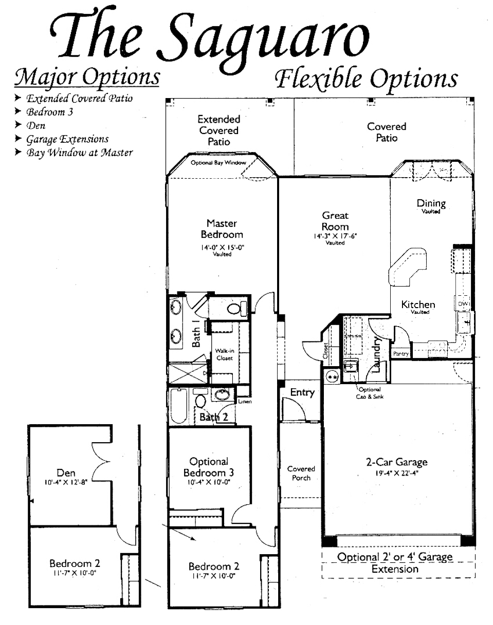 Saguaro Floorplans in Arizona Traditions