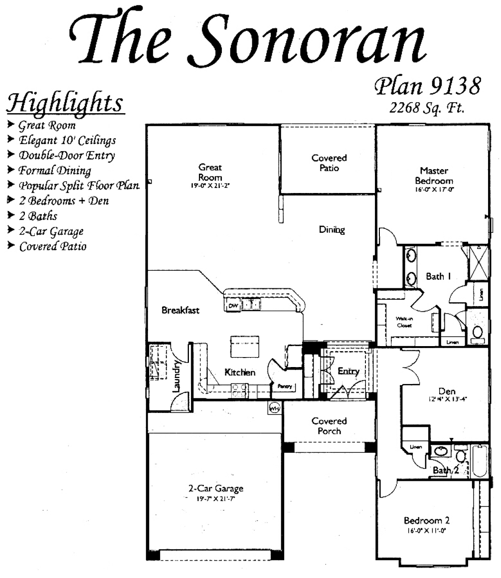 Sonoran Floorplans in Arizona Traditions