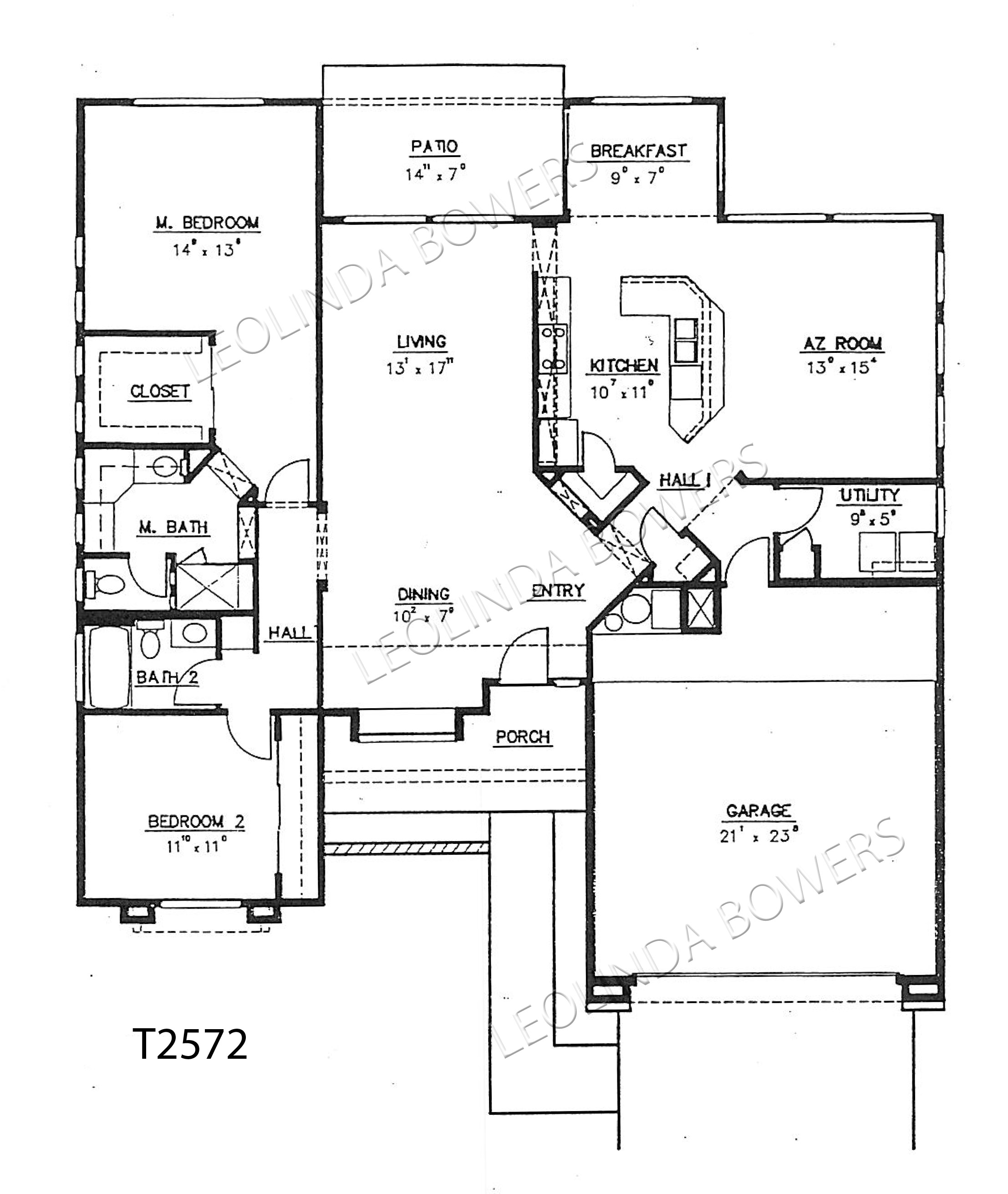 Sun City West T2572 Royale model floor plan