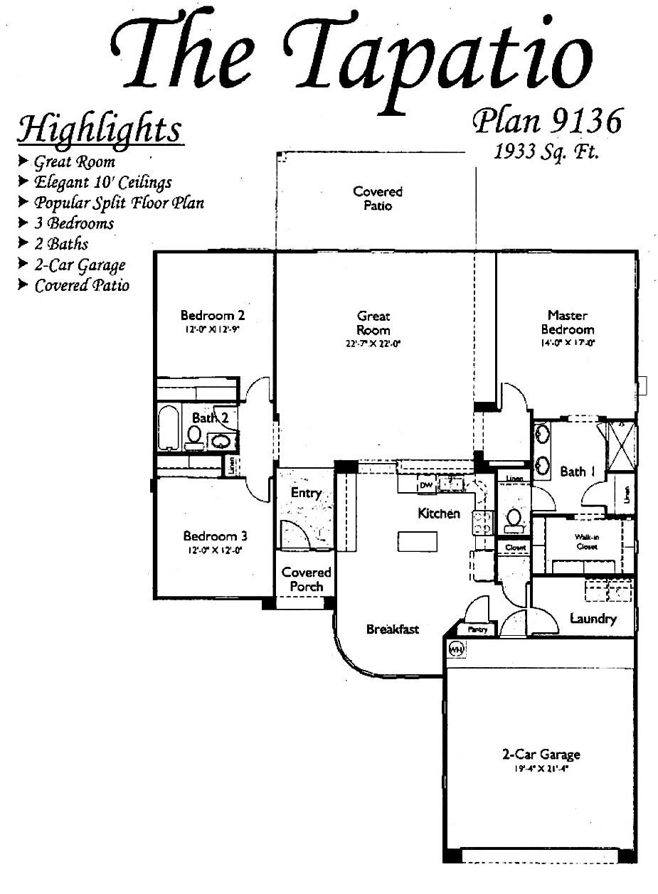 Tapatio Floorplans in Arizona Traditions