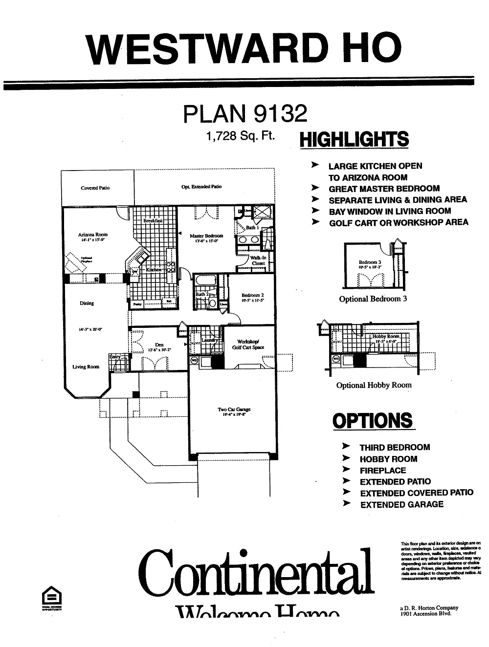 Westward Ho Floorplans in Arizona Traditions
