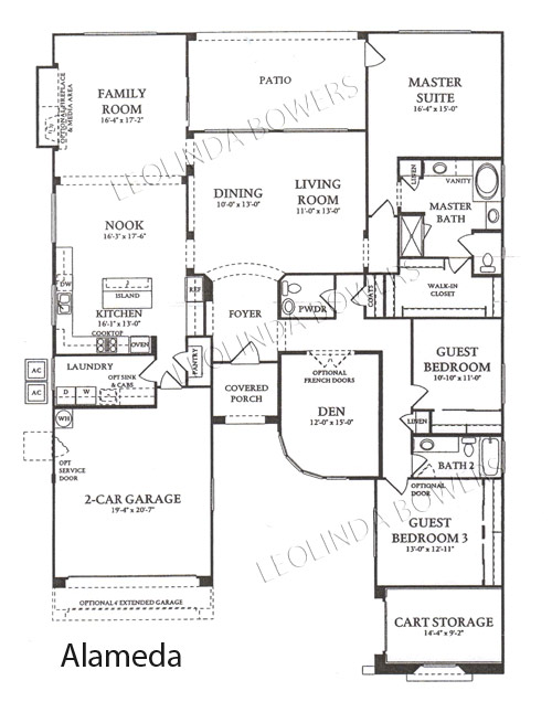 Corte Bella Alameda model floor plan