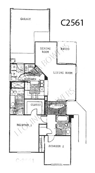 Sun City West Mojave Model Floor Plan