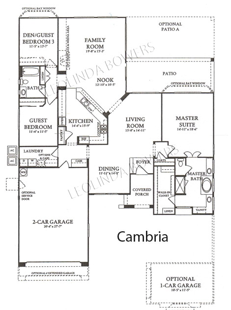 Corte Bella Cambria model floor plan