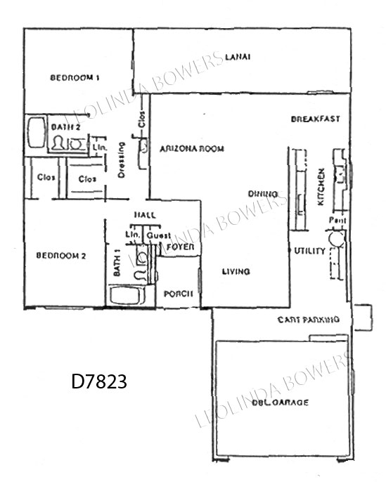 Sun City West Model D7823 Duplex Floor Plan
