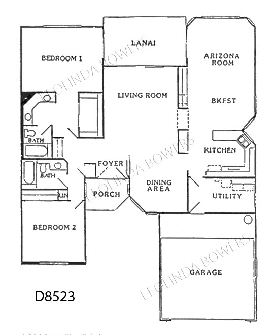 Sun City West Aspen Model Floor Plan