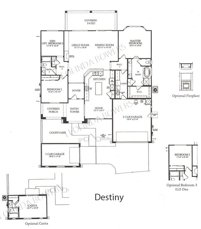 Find Sun City Festival Destiny Floor Plan Leolinda Bowers Realtor Long Realty Sun City Festival Az Homes