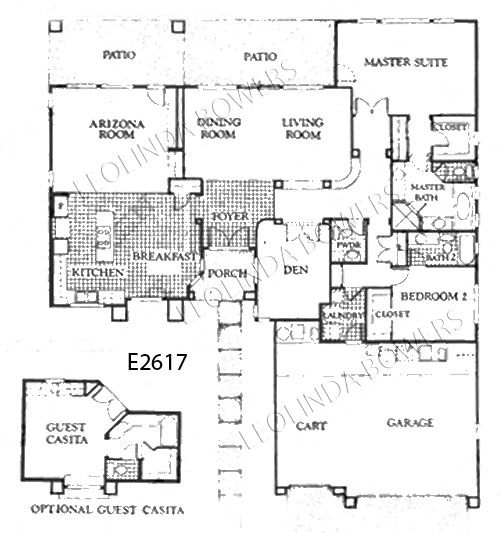 Sun City West Somerton Model Floor Plan