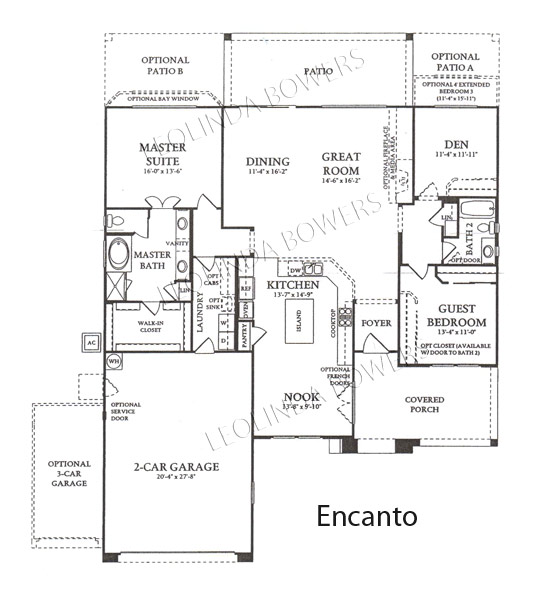 Corte Bella Encancto model floor plan