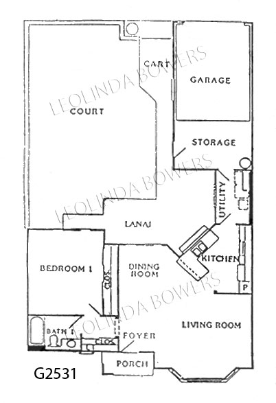 Sun City West La Casa Model Floor Plan