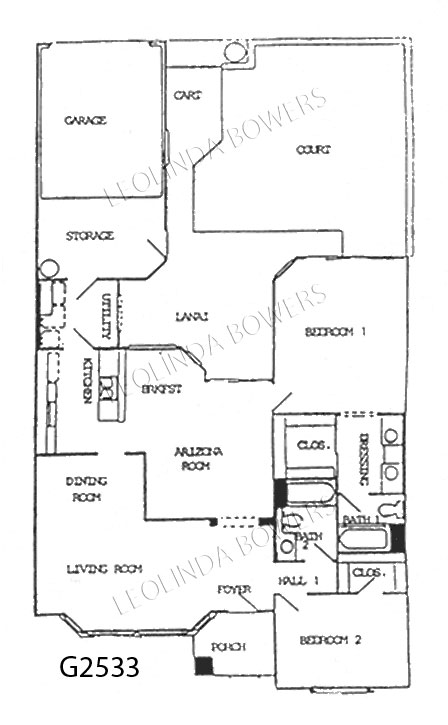 Sun City West Rialto Model Floor Plan
