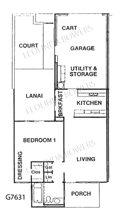 Sun city west g7631 garden apartment floor plan for Backyard apartment floor plans