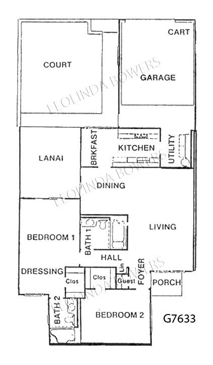 Sun City West Model G7633 Garden Apartment Floor Plan