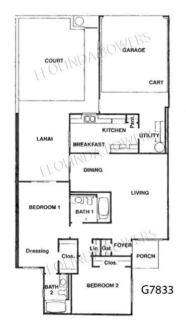 Sun City Wet G7833 Garden Apartment Floor Plan