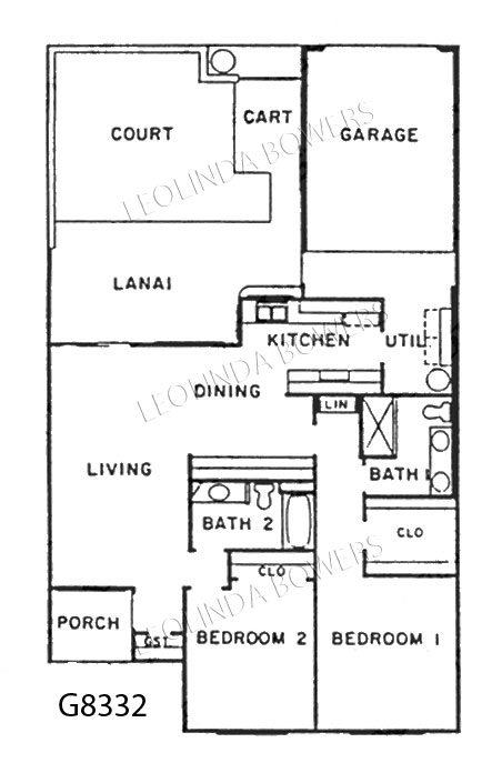 Sun City West Model G8332 Garden Home Floor Plan