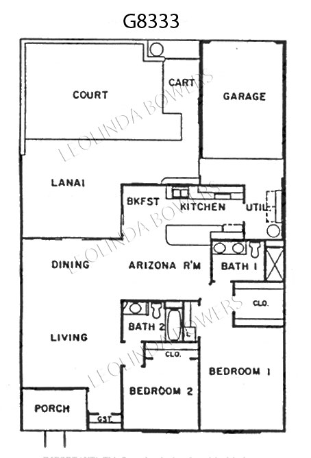 Sun City West Model G8333 Garden Home Floor Plan