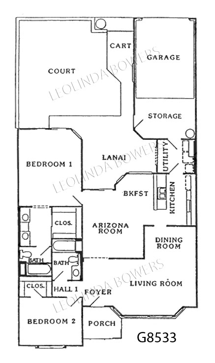 Sun City West Sonora Model Floor Plan