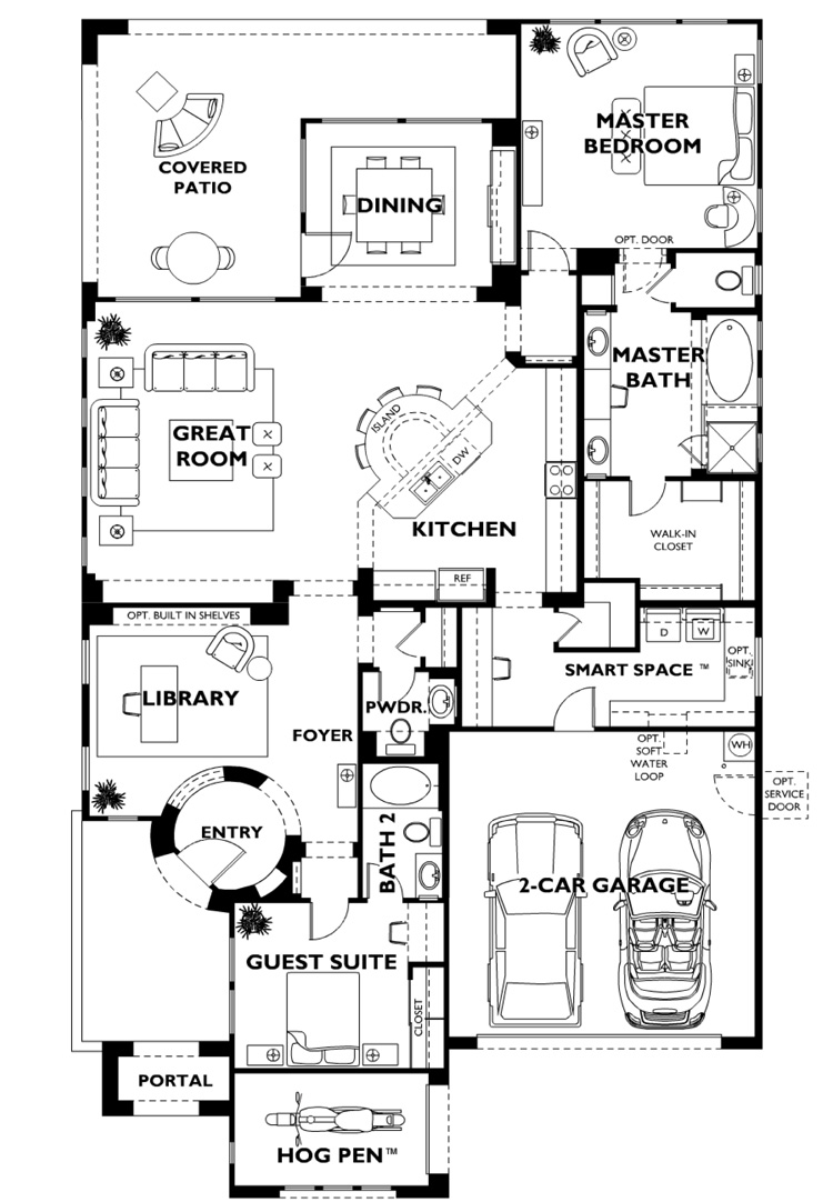 Trilogy at vistancia genova model floor plan Model plans for house