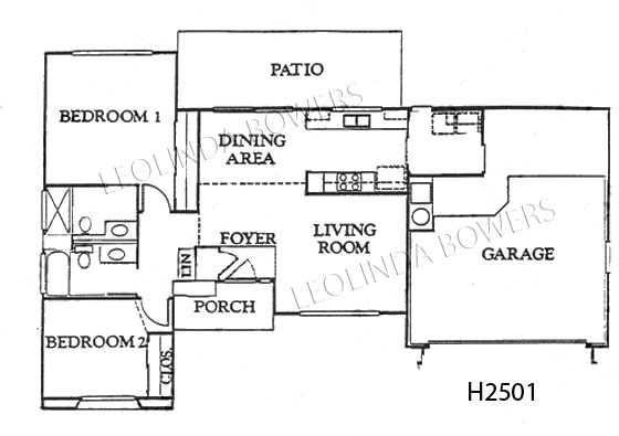 Sun City West Whitney Model Floor Plan