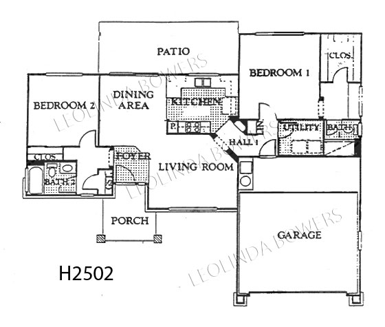 Sun City West Hudson Model Floor Plan