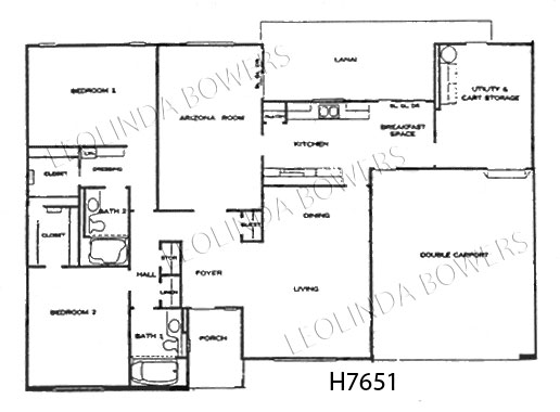 Sun City West Cranbrook Model Floor Plan