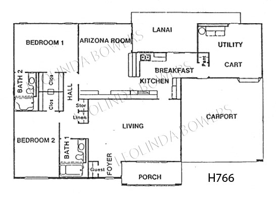 Sun City West Annapolis Model Floor Plan