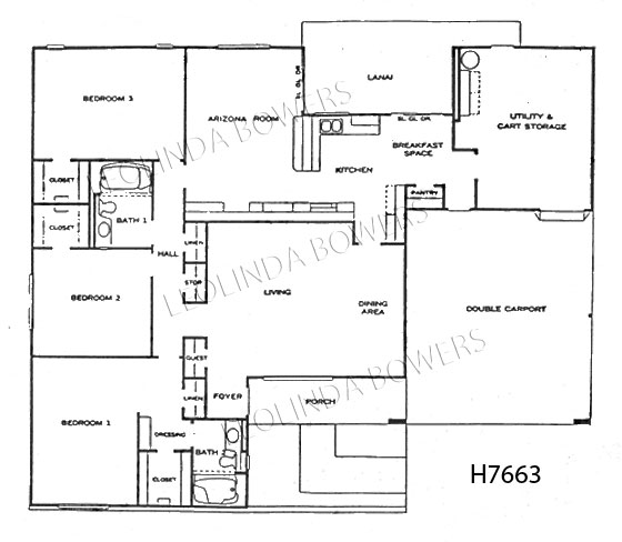 Sun City West Berkeley and Sonora Model Floor Plan