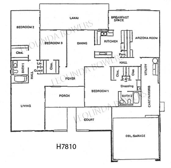 Sun City West Seville Model Floor Plan