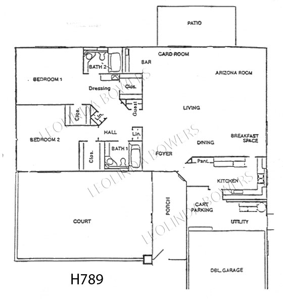 Sun City West Lasalle Model Floor Plan
