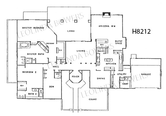 Sun City West El Monterey Model Floor Plan