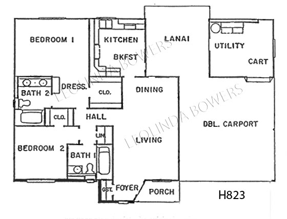 Sun City West Carleton Model Floor Plan