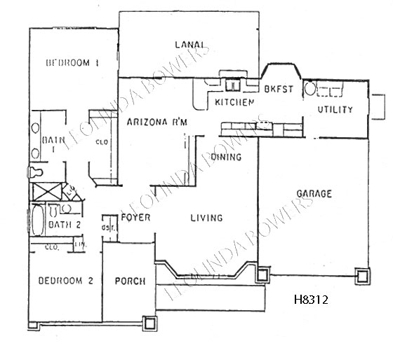 Sun City West Nandina and Santa Catalina Model Floor Plan